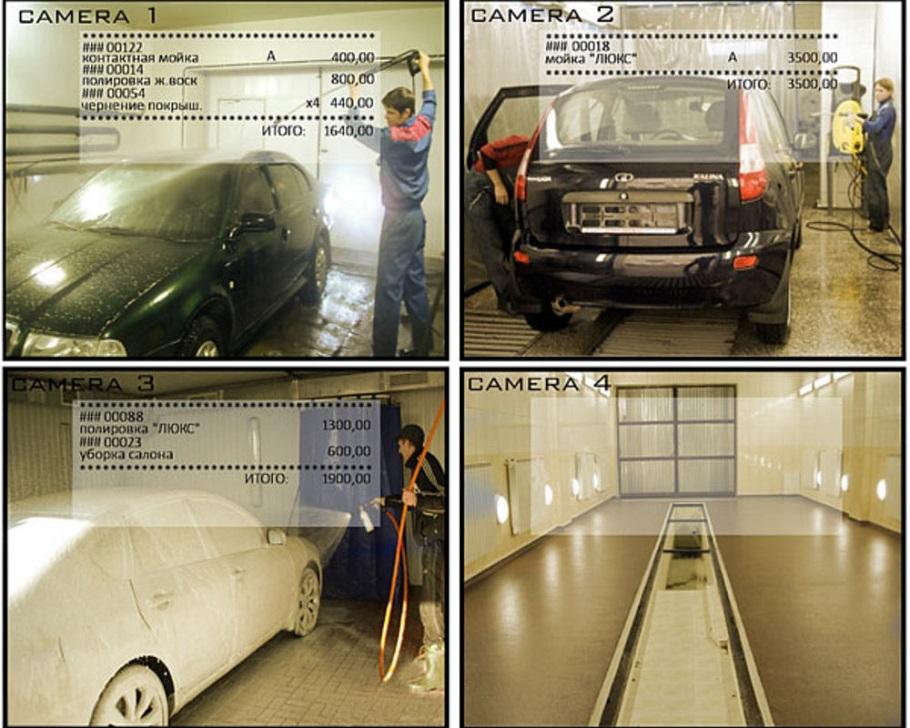Видеонаблюдение на автомойке