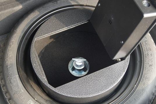Автосейф в запасное колесо