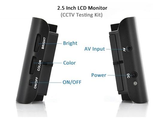 Панель управления портативного монитора