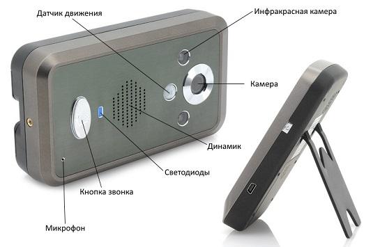 Видеодомофон с детектором движения