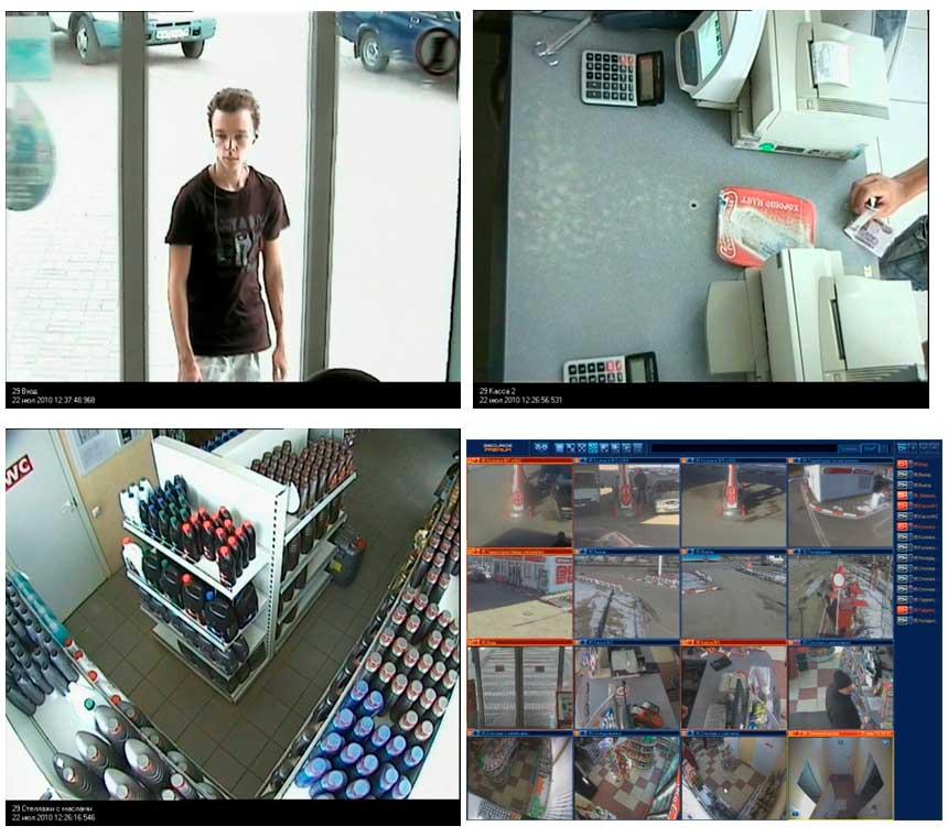 Система видеонаблюдения в действии