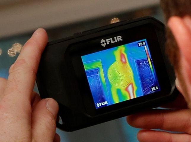 Тепловизионное изображение на экране