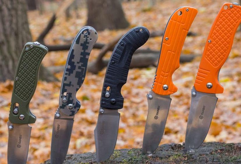 Складные ножи производства Ганзо