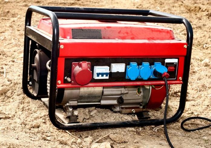 Синхронный генератор на стройке
