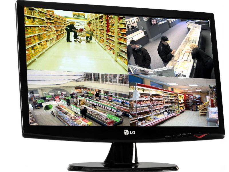 Съемка с камер наблюдения в магазине