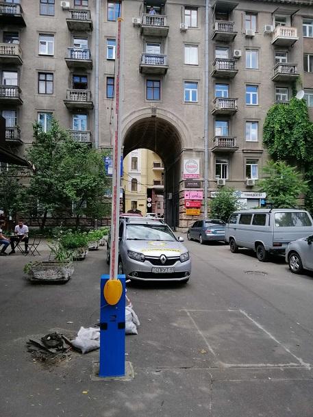 монтаж шлагбаума