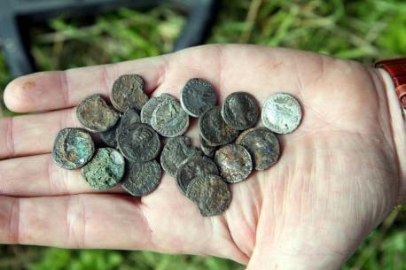 Монеты найденные металлоискателем