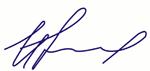 Подпись директора интернет-магазина систем безопасности ФОРТЕР